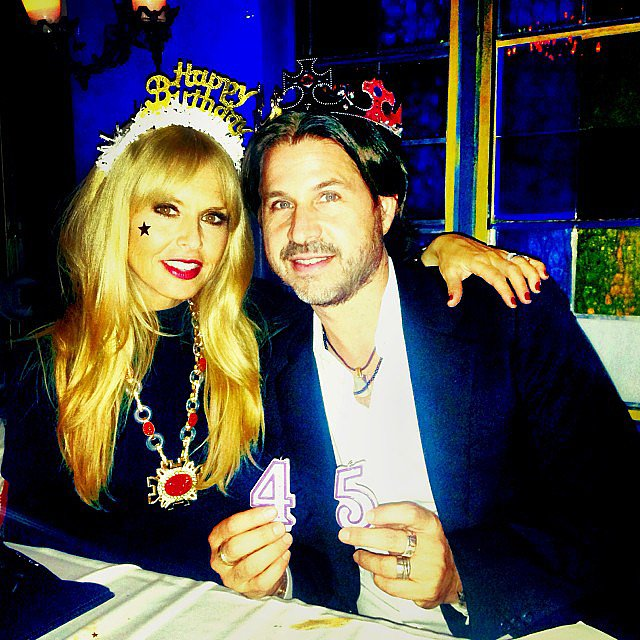 Rachel Zoe celebrated her husband Rodger Berman's 45th birthday with a fun dinner. Source: Instagram user rachelzoe