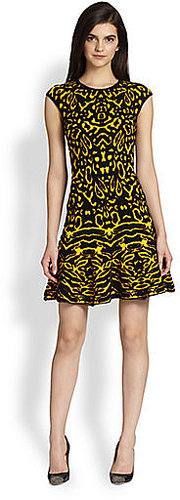 Torn Malu Animal-Patterned Wool & Cashmere-Blend Sweaterdress