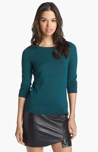 Halogen® Three Quarter Sleeve Crewneck Sweater
