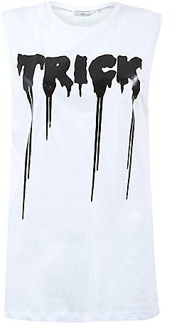 White Trick or Treat Halloween Tank Top