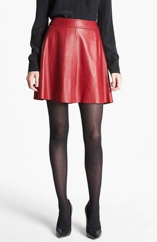 Trina Turk 'Lanni' Leather Flare Skirt