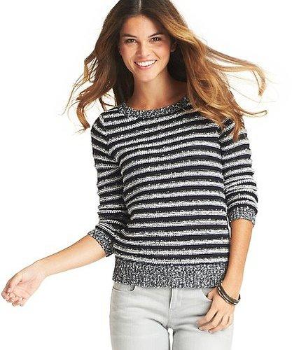 Textured Alpine Stripe Sweater