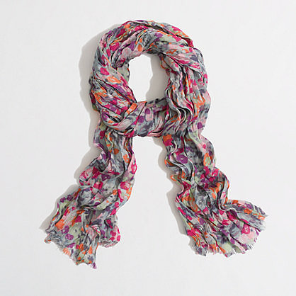 Factory printed tissue scarf