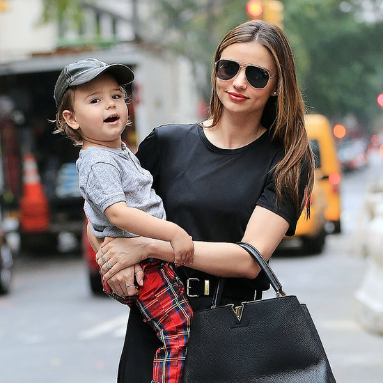 Miranda Kerr With Flynn Bloom Waving in NYC
