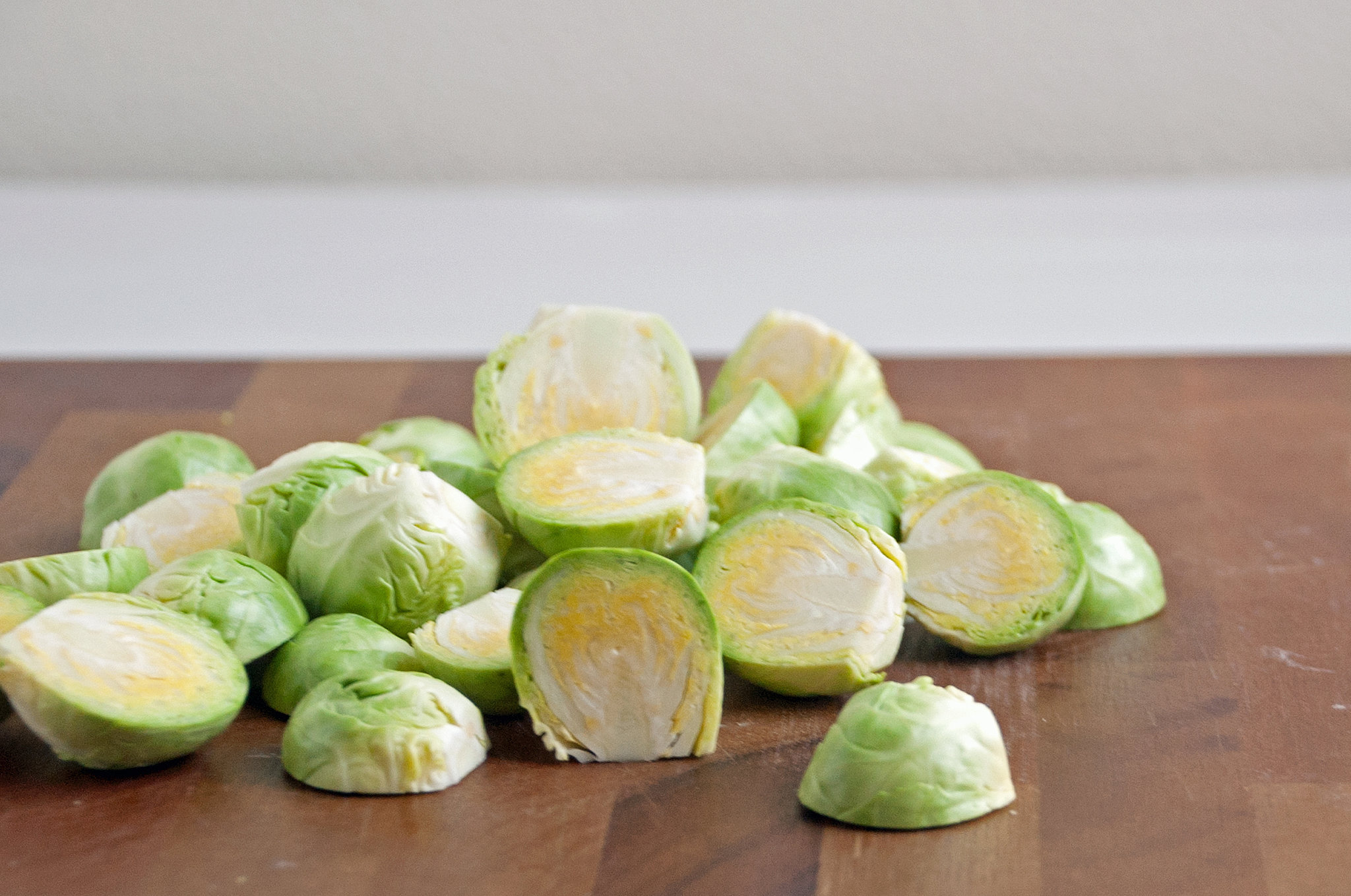 Halve the Brussels Sprouts