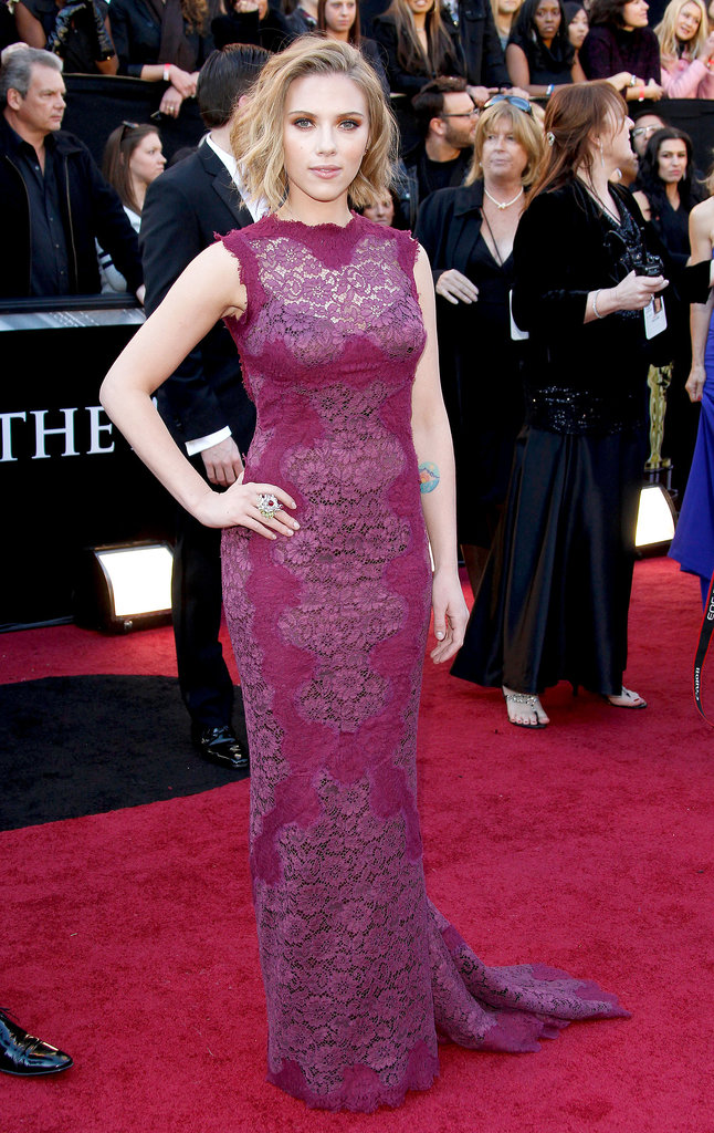 Scarlett Johansson at the Academy Awards, 2011