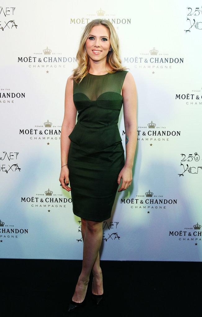 Scarlett Johansson at Moet Chandon's Anniversary party, 2012