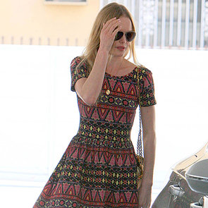 Kate Bosworth Wearing Print Dress