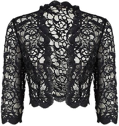Alexon Lace Jacket, Black