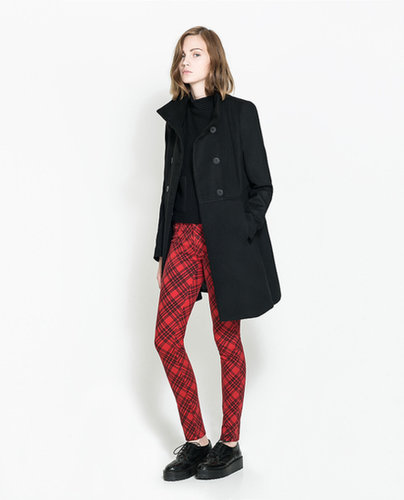 Checked  Print Trousers