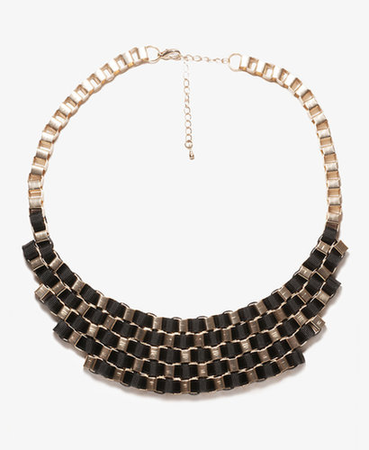 FOREVER 21 Contrast Geometric Bib Necklace