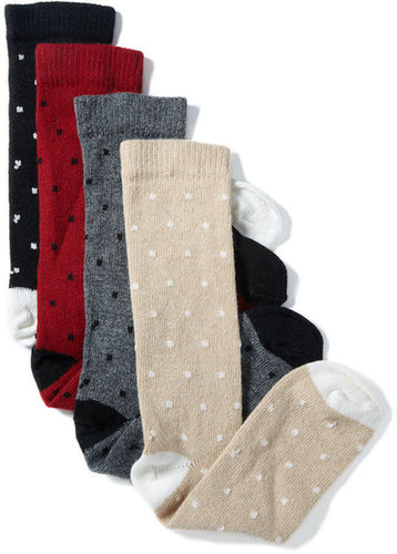 Charter Club Socks, Cashmere Pin Dot Crew Socks