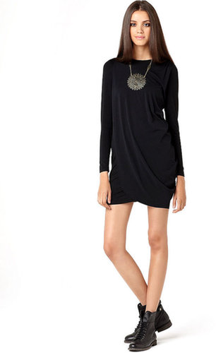 Bar III Dress, Long Sleeve Draped Mini