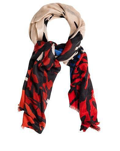 Diane Von Furstenberg Kenley mark landscape print scarf