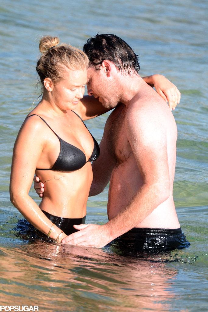 Sam Worthington and Lara Bingle Heat Things Up Down Under