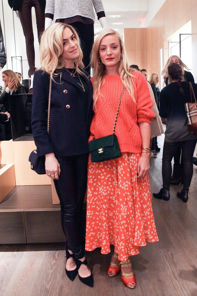 Chelsea Leyland and Kate Foley were well-accessorized with crossbody bags at the Vince SoHo bash.