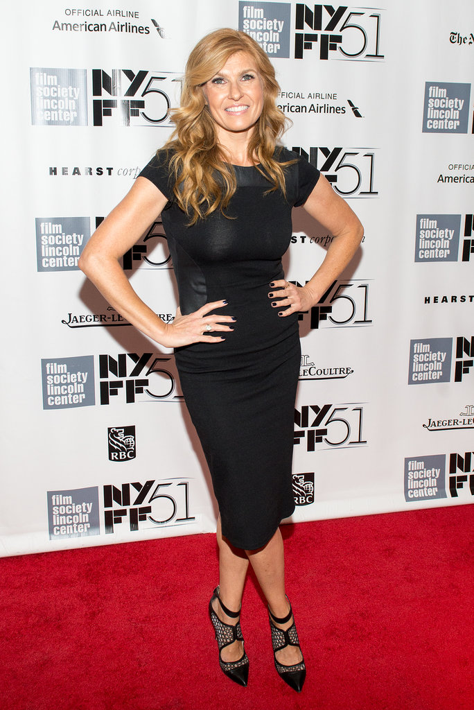 Have a hard time believing the red carpet isn't completely overrun by pricey designer gowns? Connie Britton went budget in a leather-panel ASOS dress you can still snag online for under $75!
