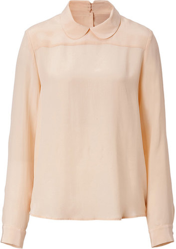 Tara Jarmon Silk Top in Cream