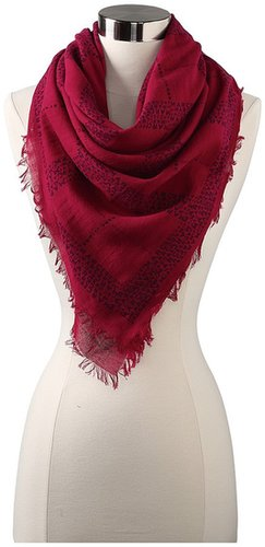 Marc by Marc Jacobs - Logo Plaid Scarf (Cranberry Multi) - Accessories
