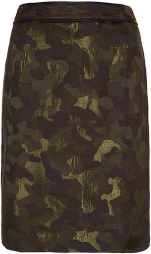 Camo Jacquard Pencil Skirt