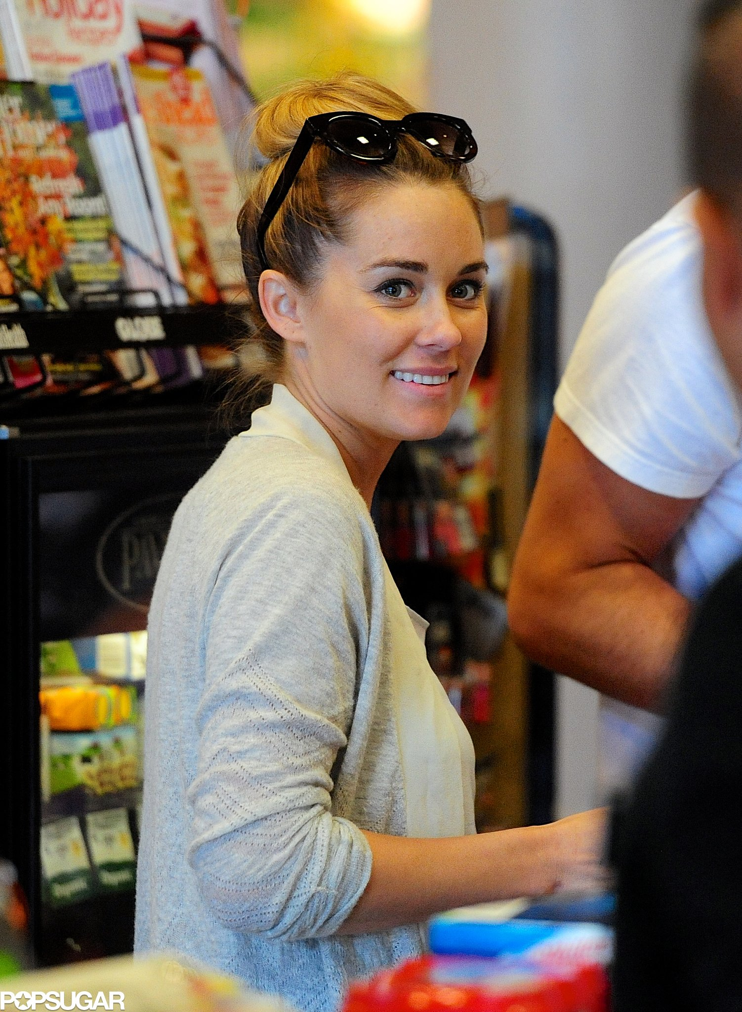 Lauren Conrad stocked up on supplies with William Tell.