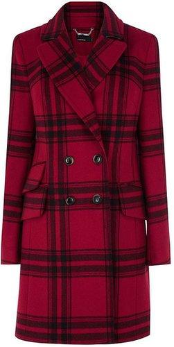 Karen Millen Masculine oversized check coat