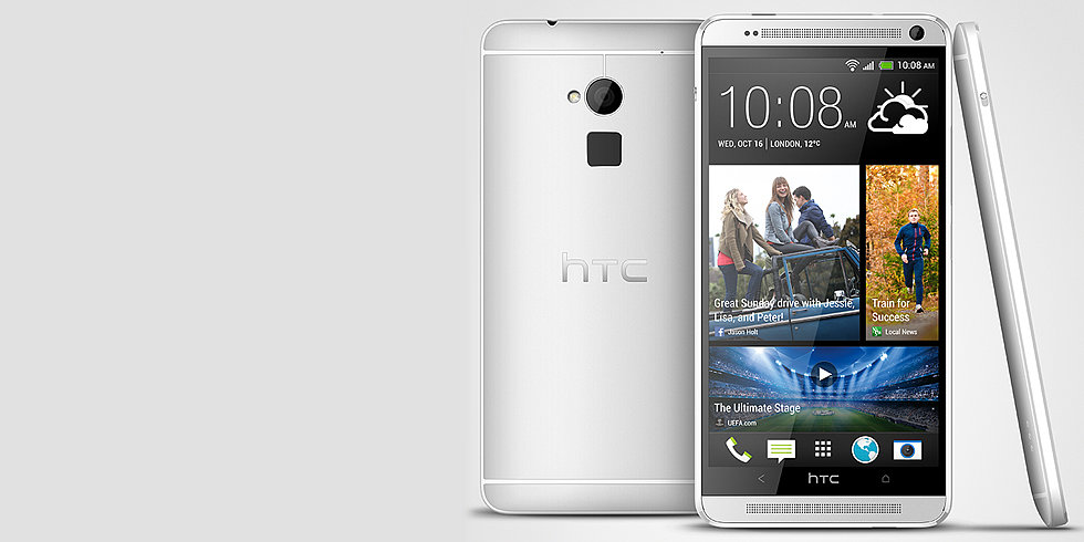 HTC One Max vs. iPhone 5S: Two Fingerprint-Scanning Phones, Spec by Spec