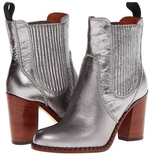 Marc by Marc Jacobs - Metallic Chelsea Boot (Silver) - Footwear