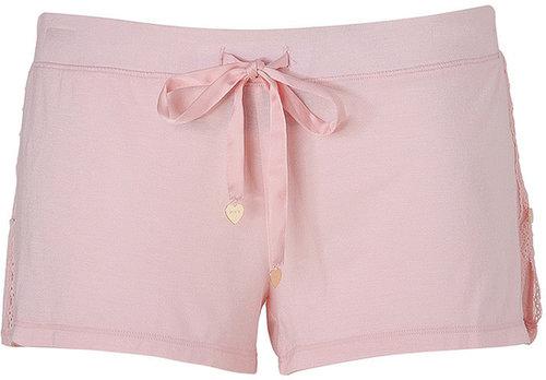Juicy Couture Petal Pink Lace Tap Short