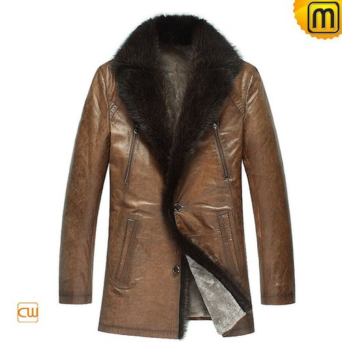 Mens Shearling Lined Winter Coat CW878505
