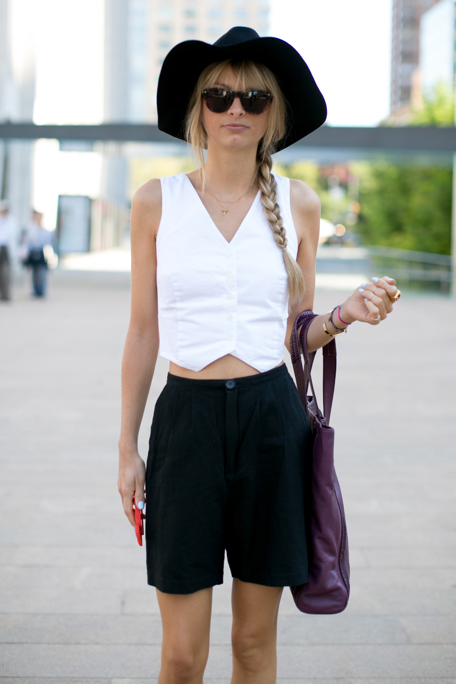 Bring a braid into the mix for a casual look.