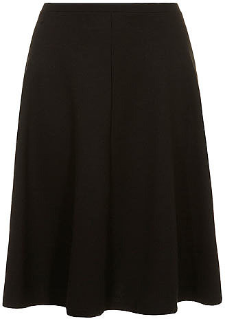 Black ponte full midi skirt