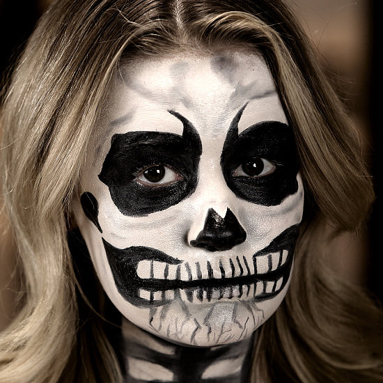 A Mind-Blowing Skeleton Face With Only 3 Products!