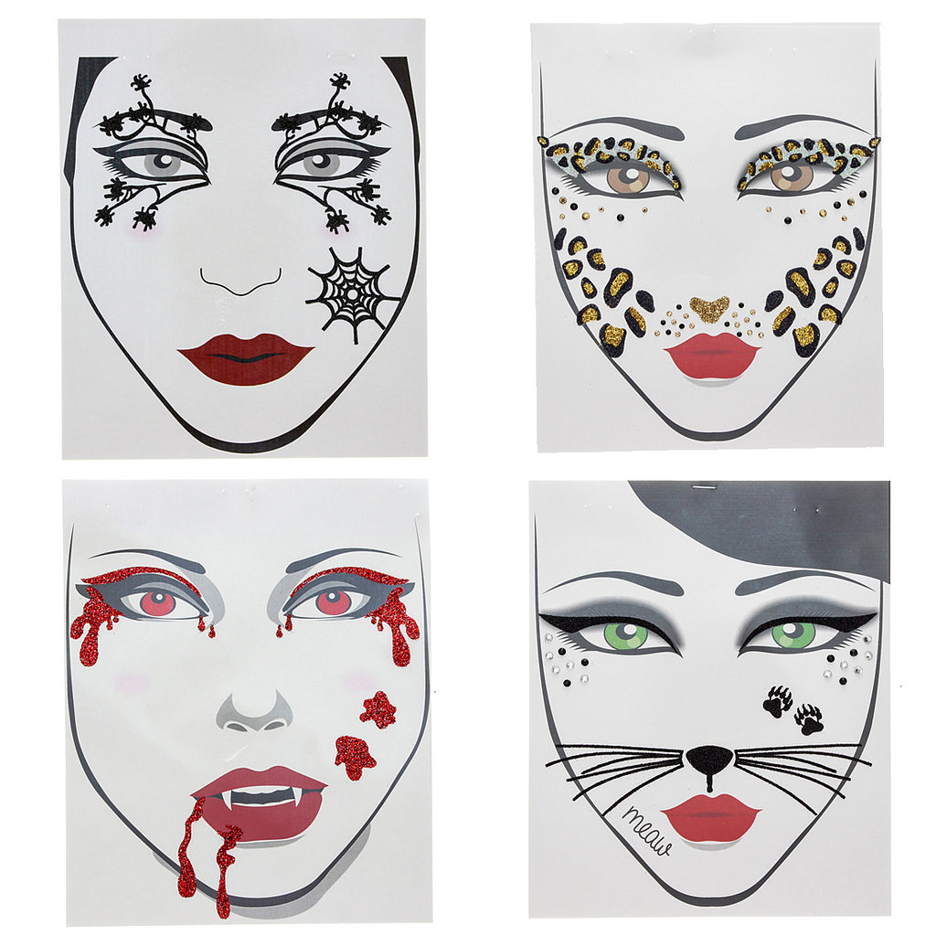 temporary face tattoos for halloween popsugar beauty