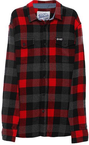 Penfield Chatham Buffalo Plaid Flannel Shirt in Red