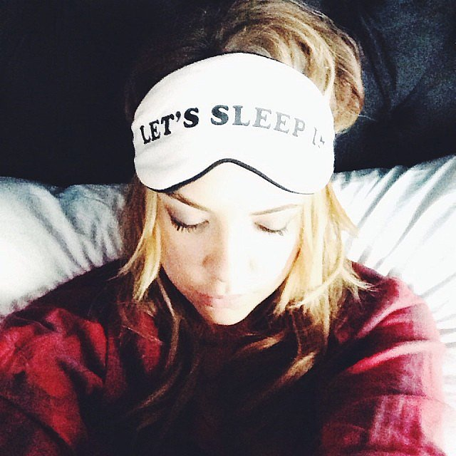 Ashley Benson was all about catching extra Zs. Source: Instagram user itsashbenzo