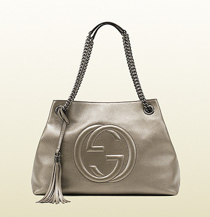 Soho Metallic Leather Shoulder Bag