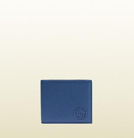 Soho Blue Sapphire Leather Bi-Fold Wallet