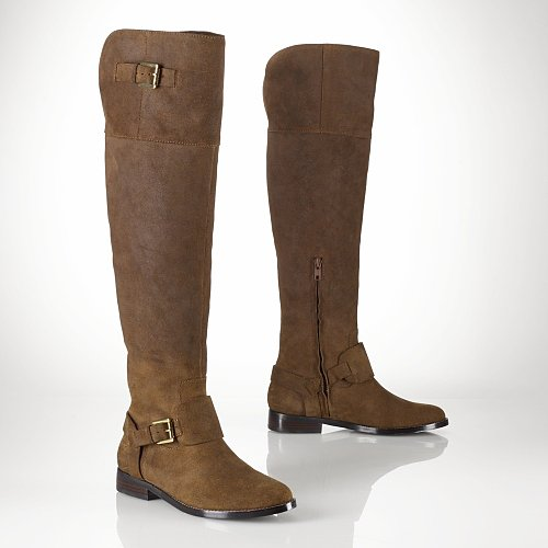 Ralph Lauren Oiled Suede Over-the-Knee Boot