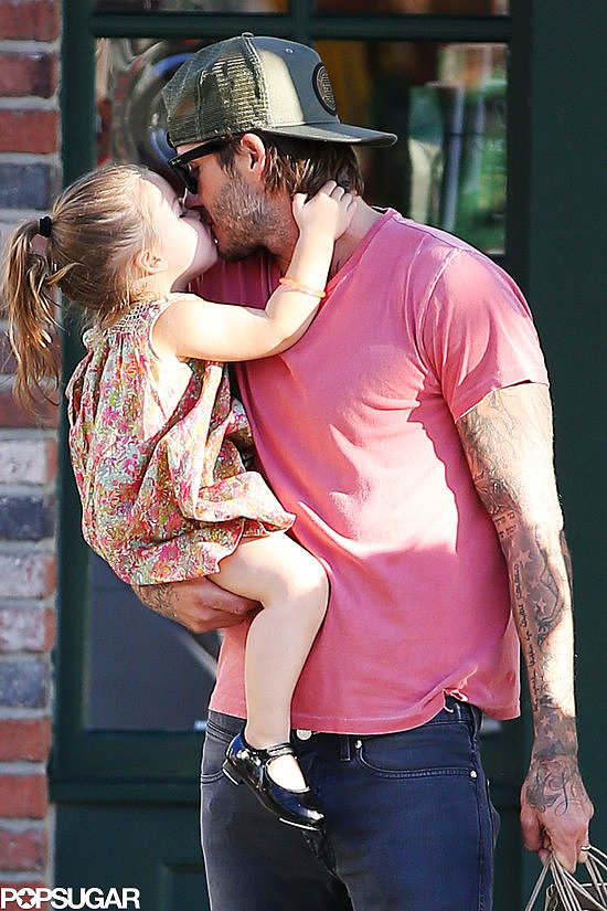 David Beckham and Harper Beckham had an adorable moment during an LA shopping trip.