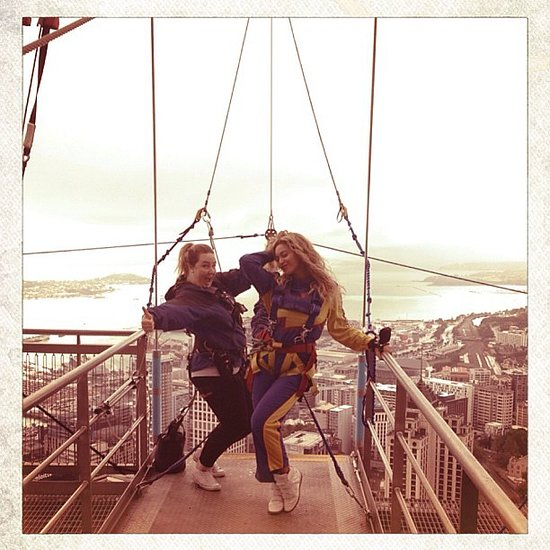 Pictures Of Beyonce Bungee Jumping In New Zealand