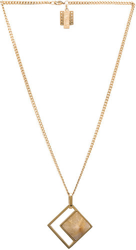 Kelly Wearstler Hudson Pendant in Gold & Rutilated Quartz