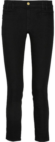 MiH Jeans Paris cropped mid-rise slim-leg jeans