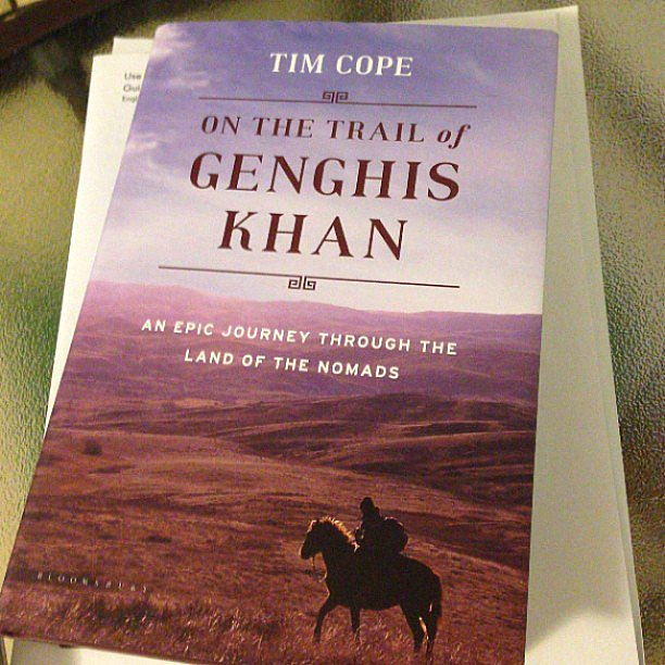 "Trixietakesatrip noted, ""Yippee! The book is out, and I have it. Now I have a month to read before I see Tim Cope speak and get him to sign it."""