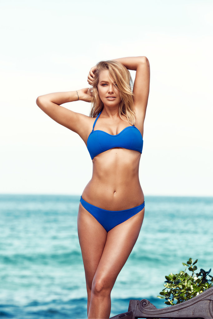 Lara Bingle struck a pose in the campaign for her Lara Bingle For Cotton On Body swimwear line. Source: Cotton On