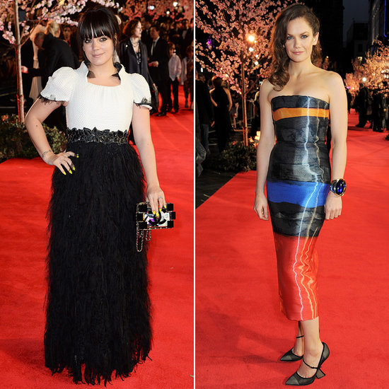 Ruth Wilson and Lily Allen at the London Film Festival