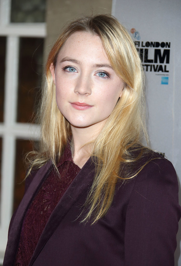 Saoirse Ronan kept it casual at the BFI London Film Festival Awards ceremony, wearing just a touch of coal gray eye shadow.