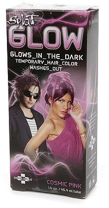 Splat Glow Temporary Hair Color - Glows in the Dark! Cosmic Pink