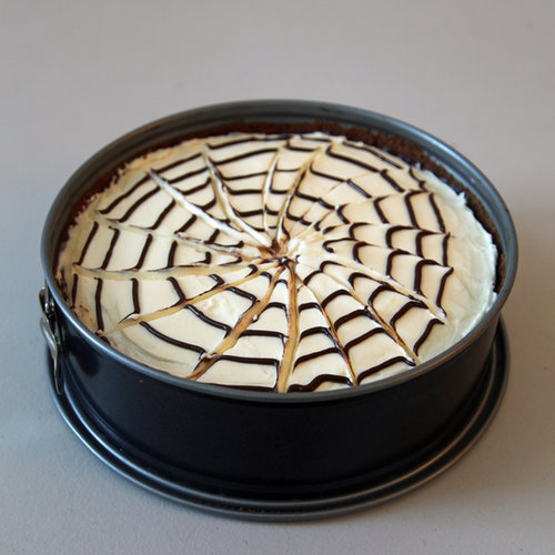 No-Bake Spiderweb Cheesecake