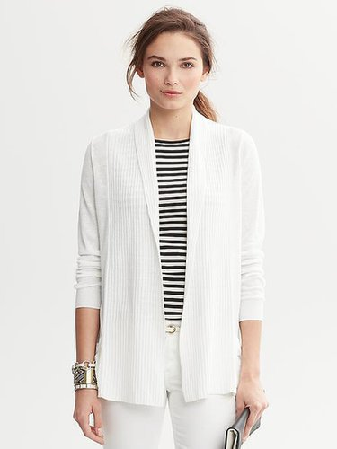 Shawl-Collar Open Cardigan